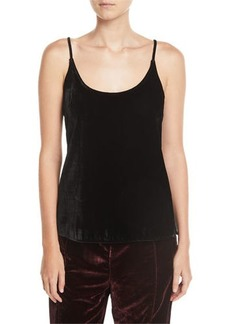 7 For All Mankind Velvet Scoop-Neck Cami Top