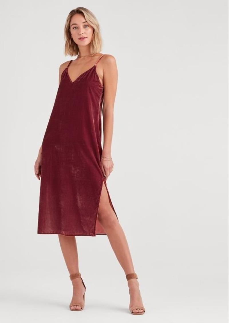 7 For All Mankind Velvet Slip Dress in Antique Pink