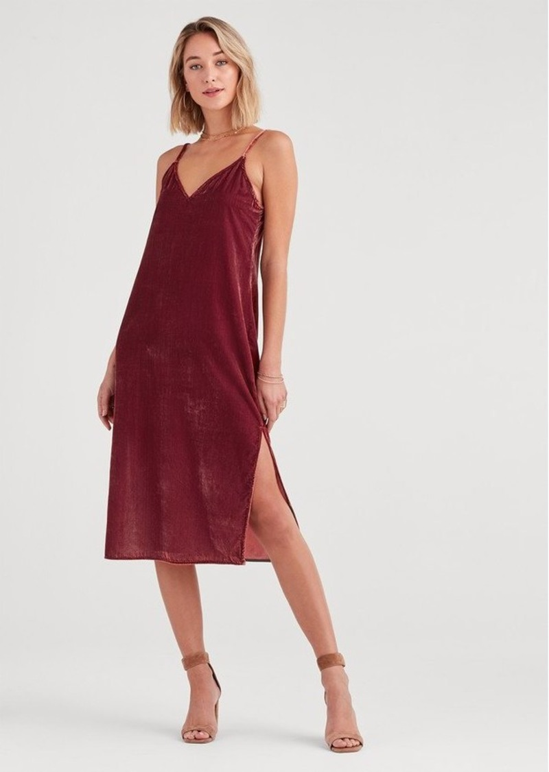 7 For All Mankind Velvet Slip Dress in Antique Pink