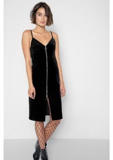 7 For All Mankind Velvet Slip Dress in Black