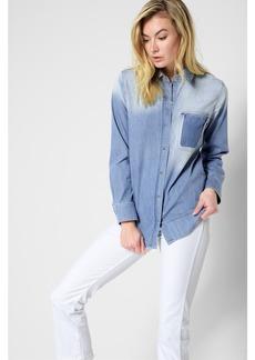 Vintage Boyfriend Denim Shirt in Oceana Authentic Blue