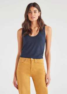 7 For All Mankind Vintage Crop Tank Sweater in Classic Navy