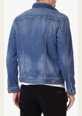 7 For All Mankind Vintage Denim Trucker Jacket in Sedona