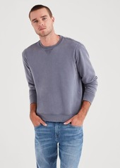 7 For All Mankind Vintage Washed Crewneck in Charcoal