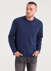 7 For All Mankind Vintage Washed Crewneck in Midnight Navy