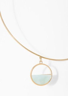 7 For All Mankind Wanderlust + Co Semi Circle Choker in Mint and Gold
