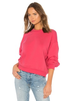 7 For All Mankind We Are Mankind Outline Embroidery Sweatshirt