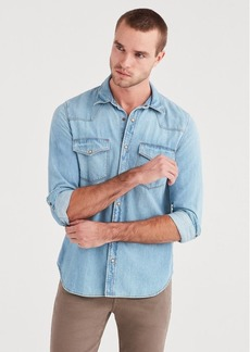 7 For All Mankind Western Denim Shirt in Indigo Ranch