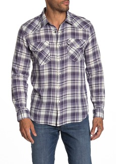 7 For All Mankind Western Plaid Long Sleeve Shirt