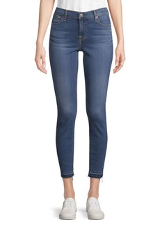 7 For All Mankind Whiskered Cropped Jeans