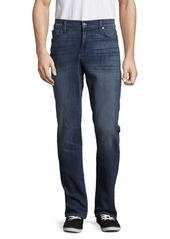 7 For All Mankind Whiskered Faded Jeans
