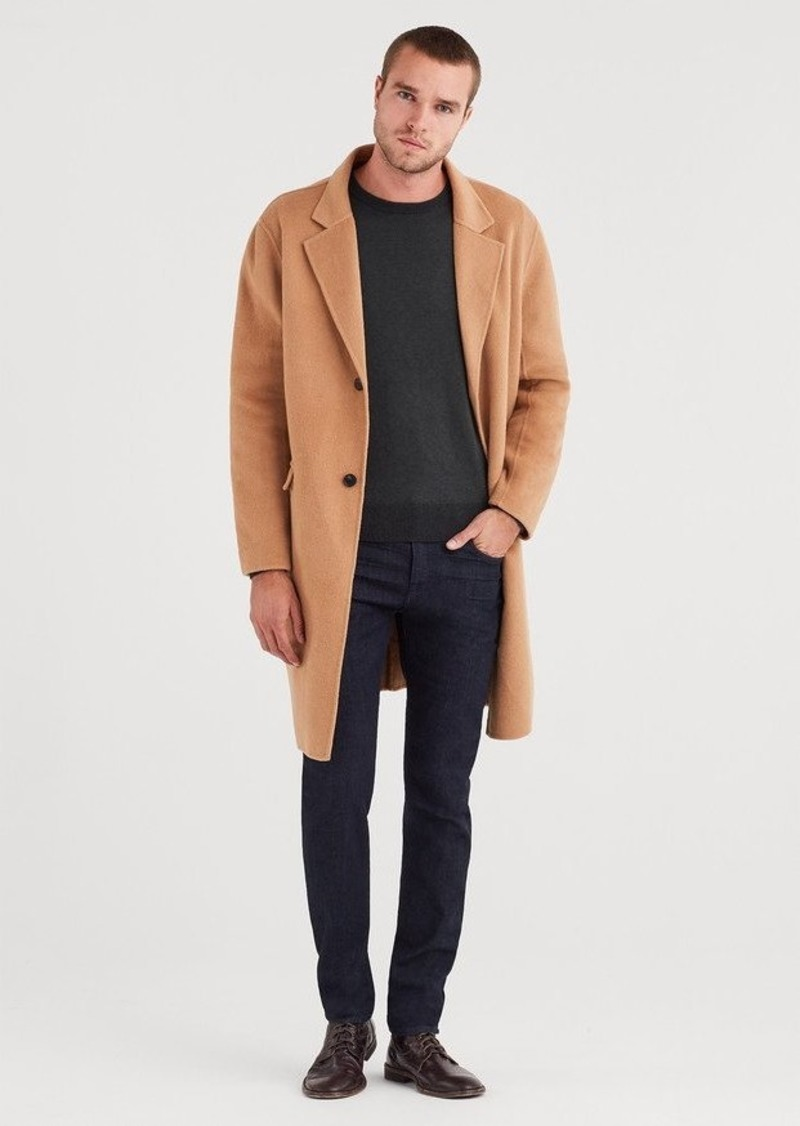 7 For All Mankind Wool Overcoat in Camel