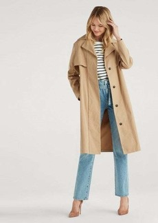 7 For All Mankind Wrap Trench Coat in Camel