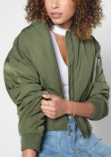 7 For All Mankind Zip Front Casual Bomber in Pickle