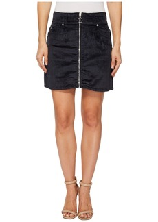 7 For All Mankind Zip Front Mini Skirt in Navy