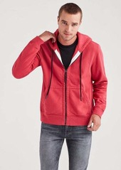 7 For All Mankind Zip Through Hoodie in Mineral Red