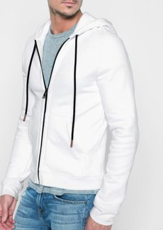 7 For All Mankind Zip Through Hoodie in White