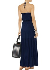 T-Bags Ruched stretch-jersey maxi dress