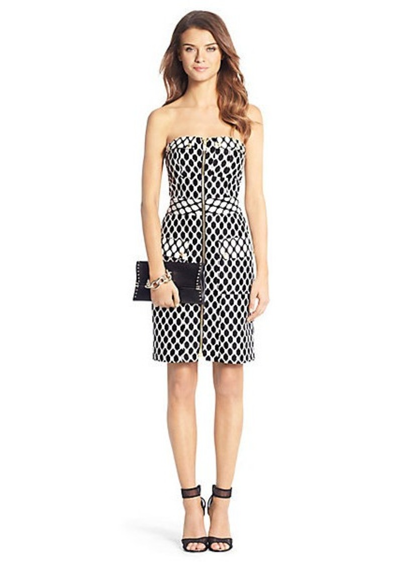 Diane Von Furstenberg Adida Diamond Collage Strapless Dress