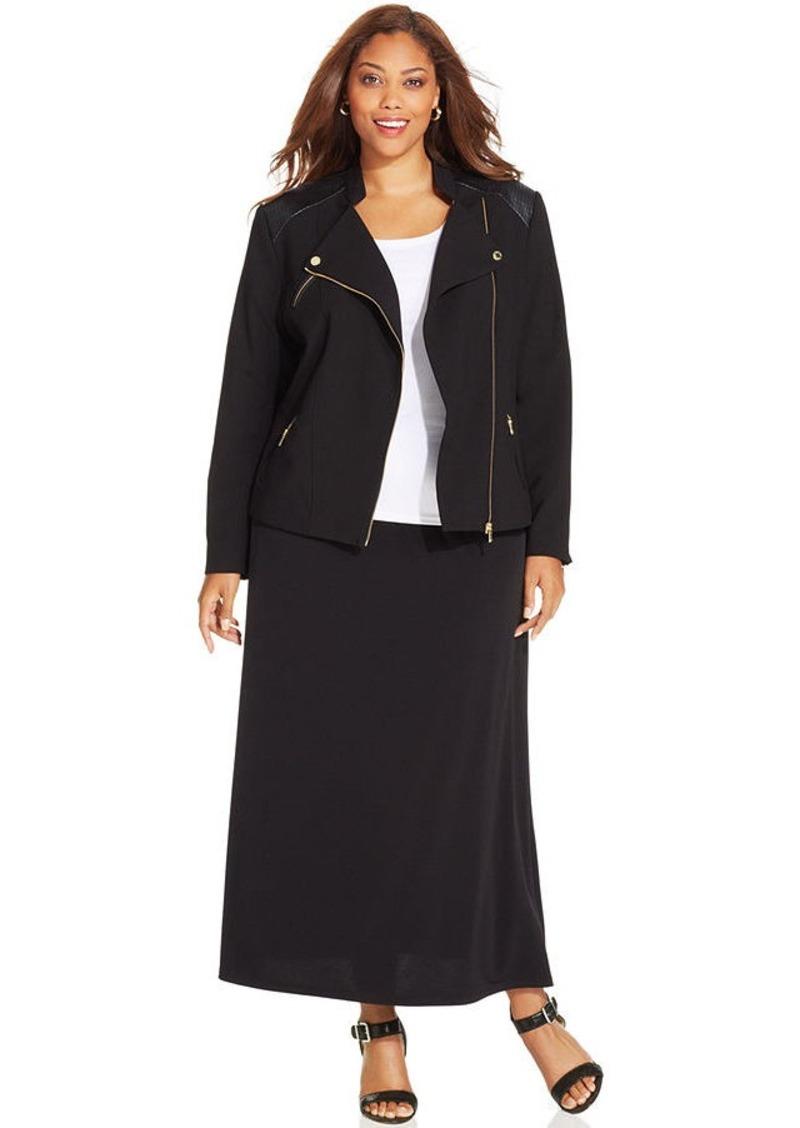 Alfani Plus Size A-Line Maxi Skirt