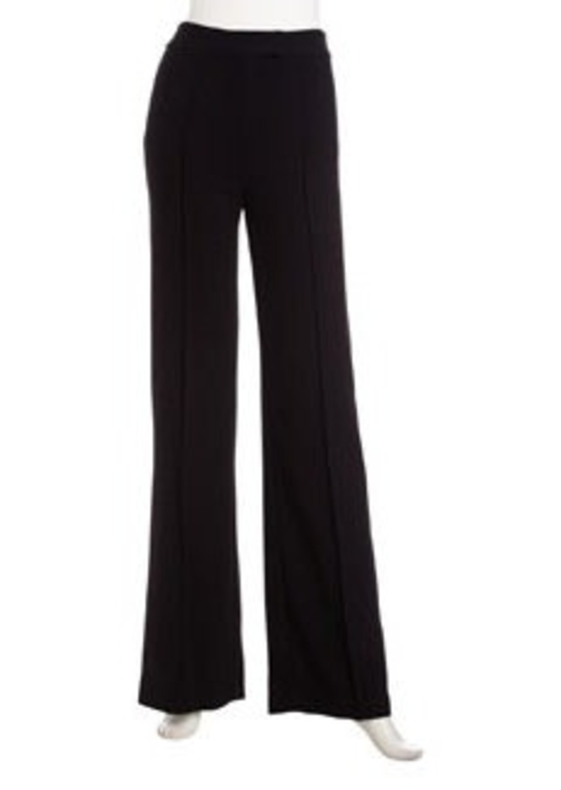 L.A.M.B. Crepe Bell-Bottom Pants, Black