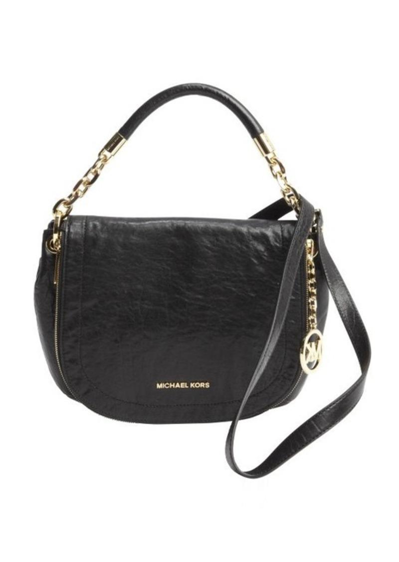 MICHAEL Michael Kors black leather 'Stanthorpe' medium convertible bag