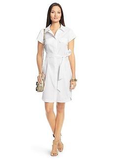 Diane Von Furstenberg Aviana Short Sleeve Cotton Shirt Dress