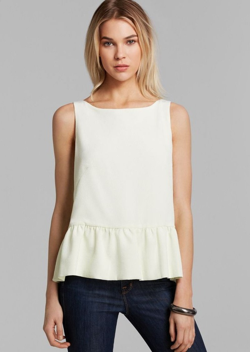 FRENCH CONNECTION Top - Tennis Crepe Swing Back