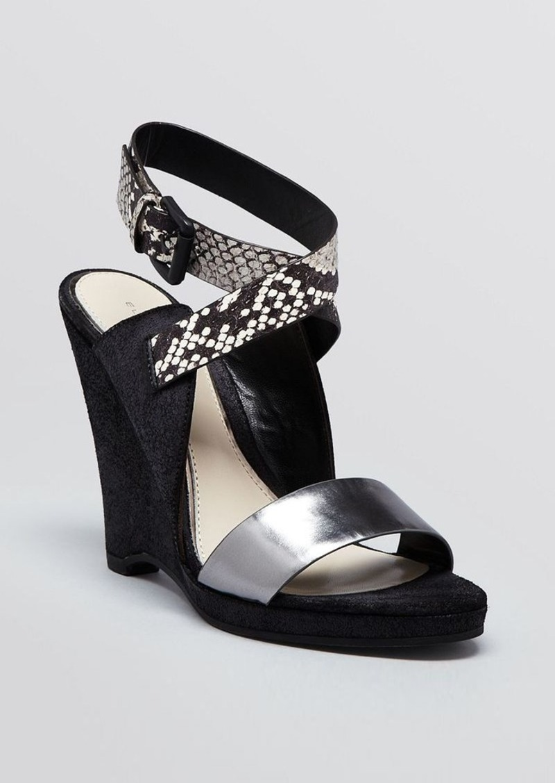 Elie Tahari Platform Wedge Sandals - Weston