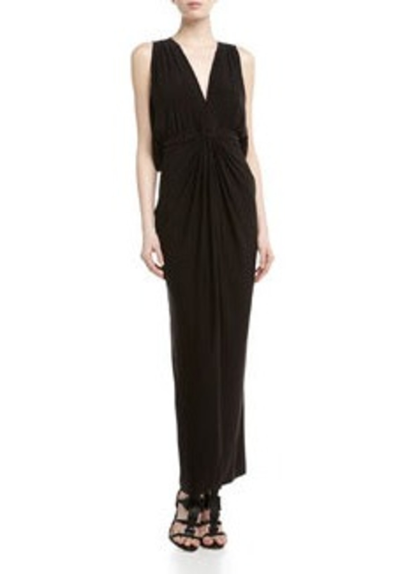 T-Bags T Bags Knotted Draped Back Maxi Dress, Black