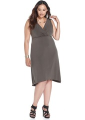 Alfani Plus Size Surplice-Neck Sleeveless Dress