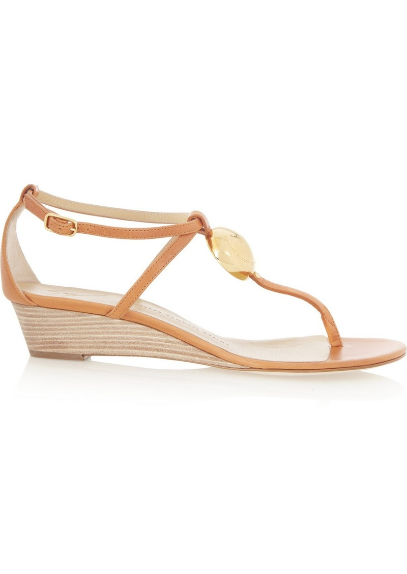 Giuseppe Zanotti Carmello leather wedge sandals