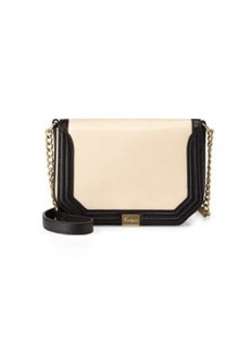 Foley + Corinna Pleated Mini Crossbody Bag, Ecru/Black