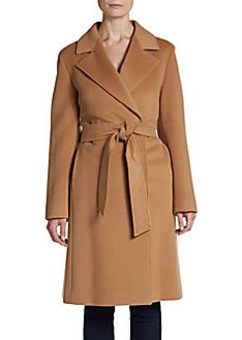 Cinzia Rocca Wool Fleece Wrap Coat