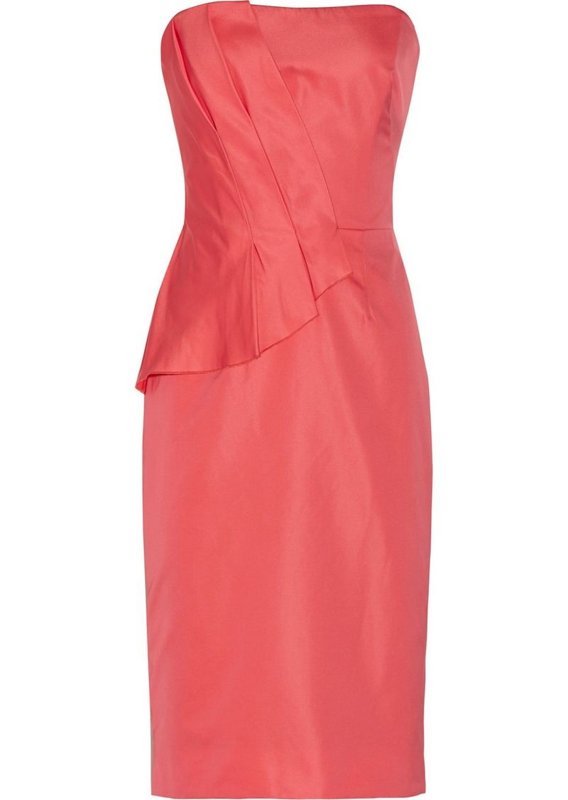 Lela Rose Pleated satin dress