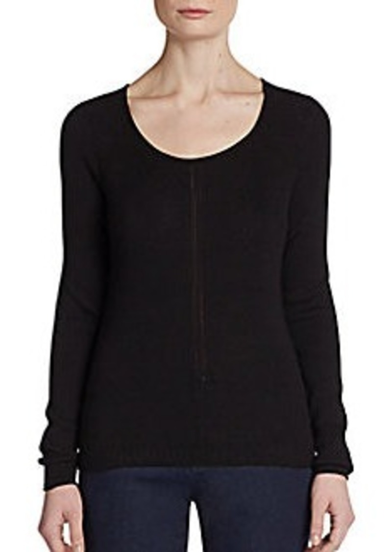 Tahari Dropstitch Ribbed Sweater
