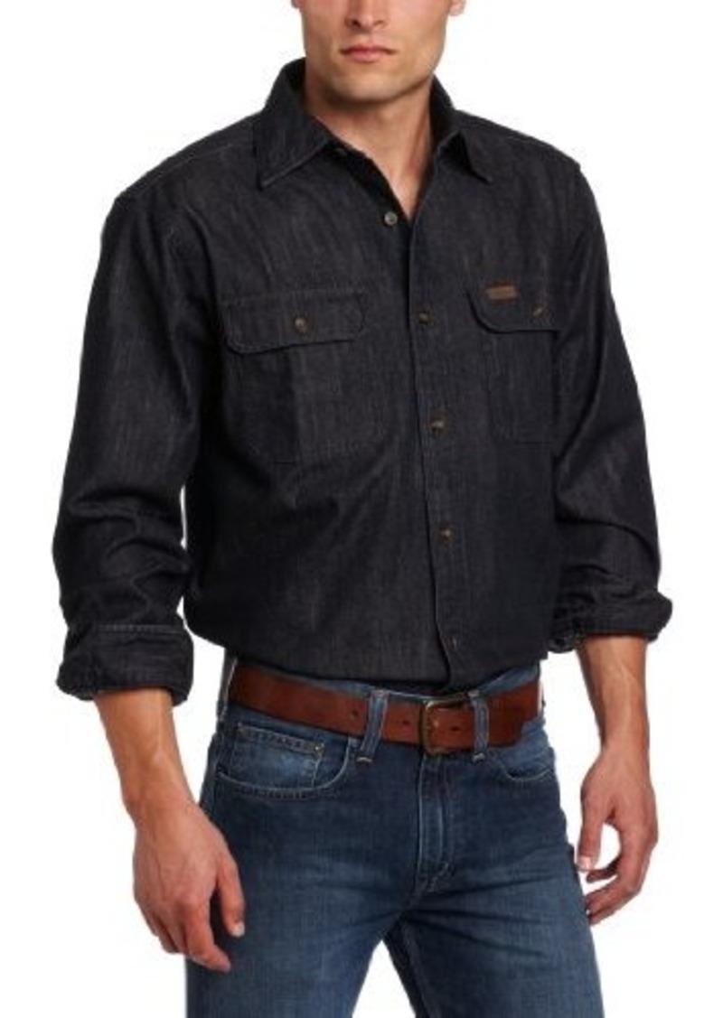 Carhartt carhartt men 39 s washed denim work shirt long for Mens denim work shirt