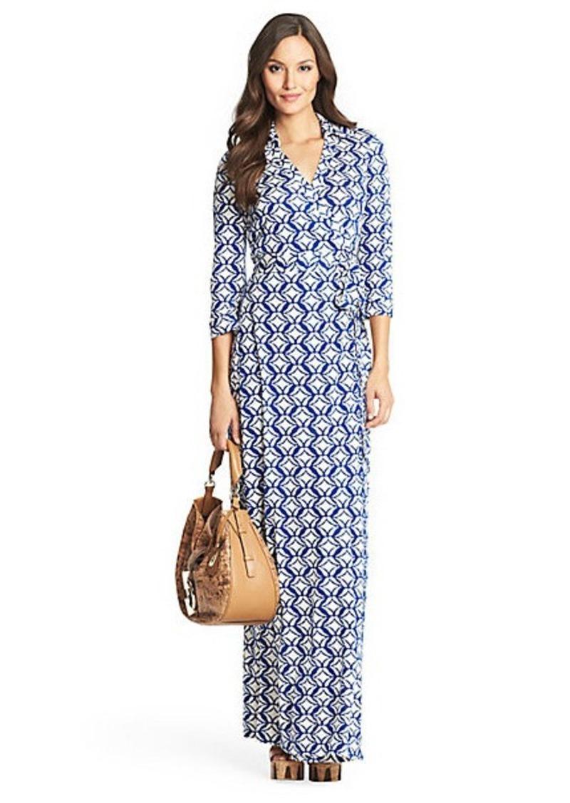 Diane Von Furstenberg Abigail Silk Jersey Maxi Wrap Dress