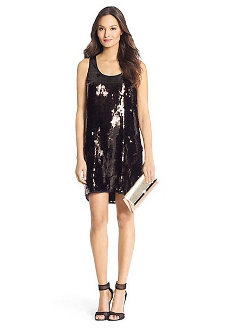 Diane Von Furstenberg Pellina Paillette Sequin Dress