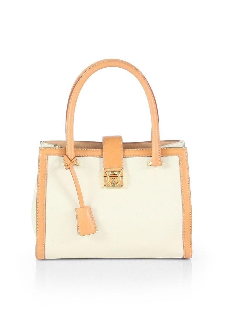 ferragamo salvatore ferragamo juliette bicolor tote handbags shop it to me. Black Bedroom Furniture Sets. Home Design Ideas