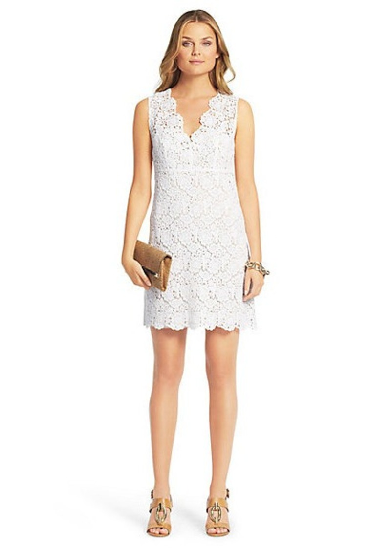 Diane Von Furstenberg Hippolyte Sleeveless Crochet Lace Dress