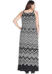 Alfani Plus Size Printed Halter Maxi Dress