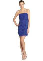 Diane Von Furstenberg blue 'Walker' strapless lace dress