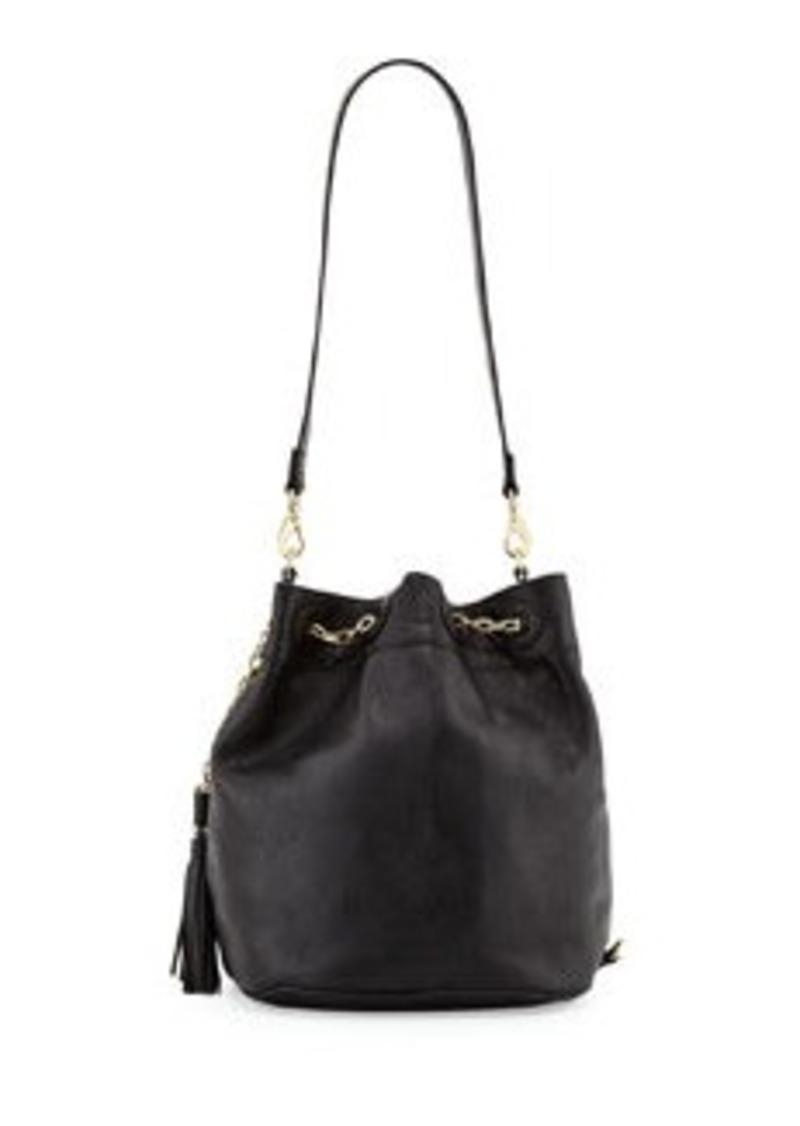 Foley + Corinna Convertible Sling Drawstring Bucket Bag, Black