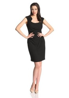 Calvin Klein Women's  Cap Sleeve Side Rouched Sheath Dress