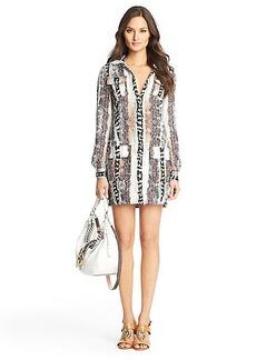 Diane Von Furstenberg Dilly Printed Linen Tunic Dress