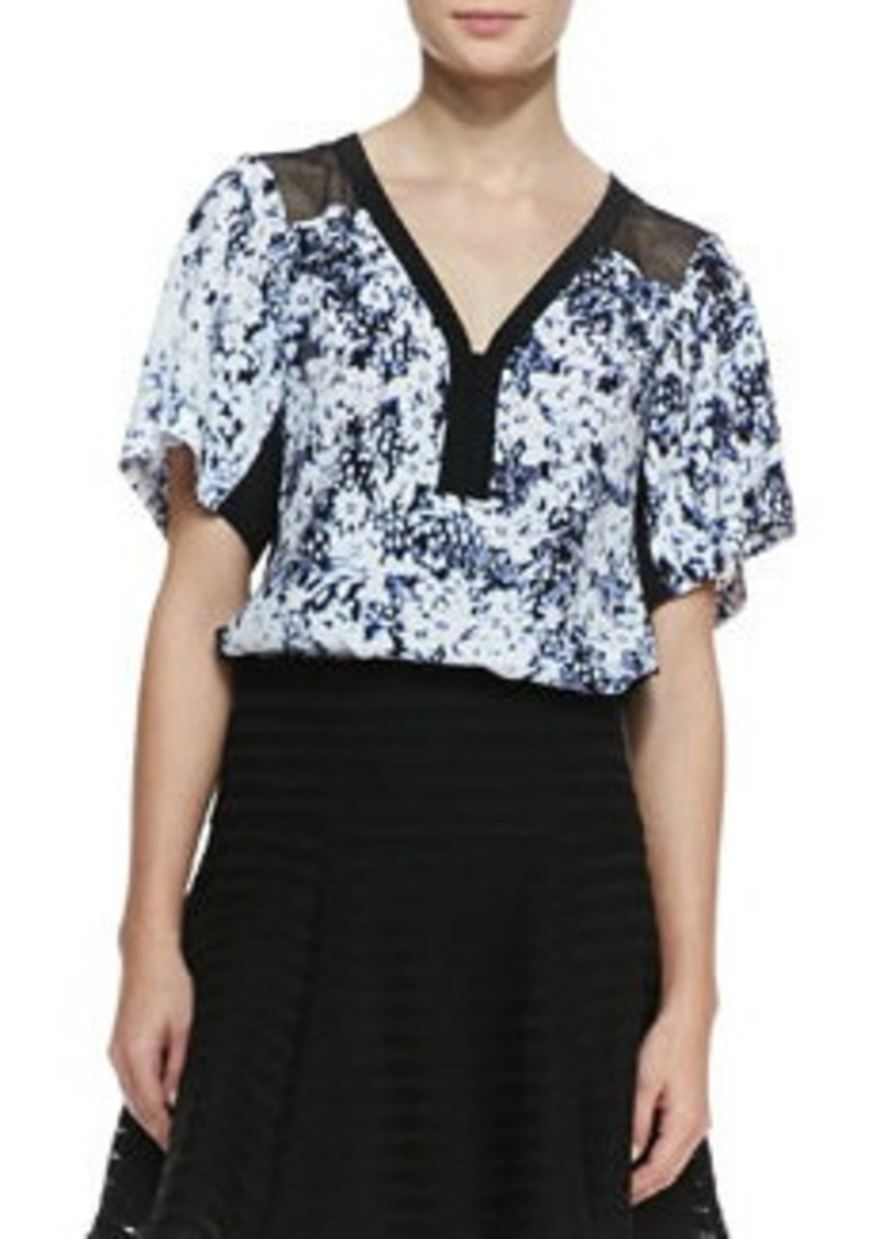Nanette Lepore Til You Drop Floral-Print Top   Til You Drop Floral-Print Top
