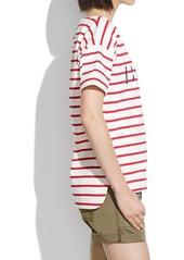Madewell beach shirttail tee in stripe