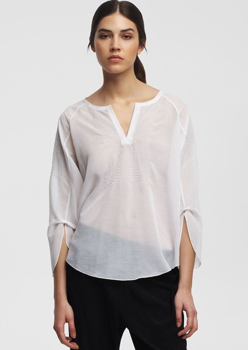 Kenneth Cole New York Gemma Peasant Blouse