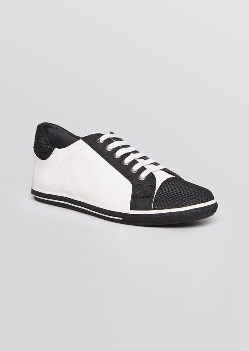 Elie Tahari Cap Toe Lace Up Sneakers - Dream